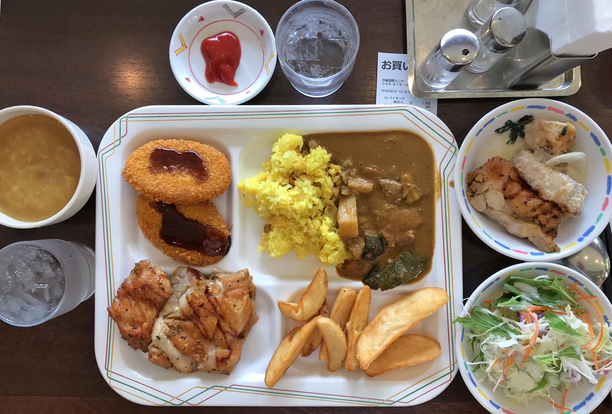 JICA沖縄 OIC(おいしー)食堂でランチバイキングを食べてきた