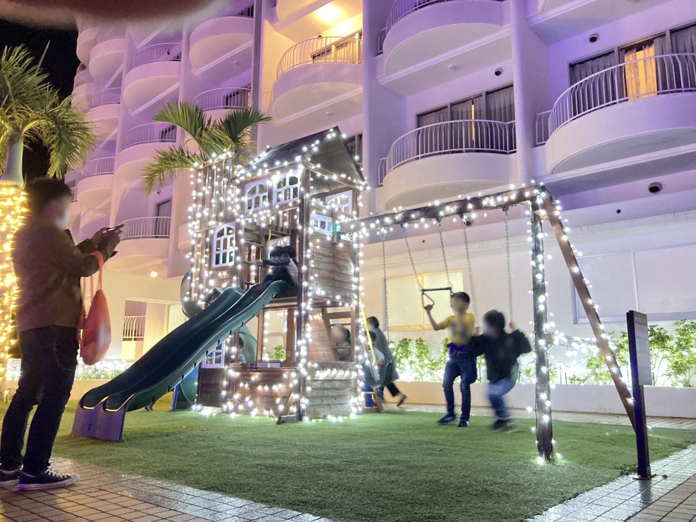 小さい子どもたちが楽しめる遊具があったり。ファミリー客にとってはハズレのないホテルだと思いました。