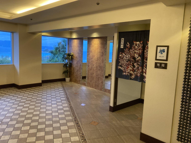 オーシャンタワー側にある浴場『海の湯』。決して大きくはないけど、ジェットバスが心地よかったです。
